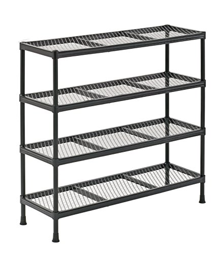 Garage Shelving Units - Sandusky CSR311031 Gray Combination Wire Shelving Unit, 4 Shelves, 31