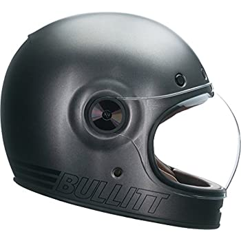 Bell Bullitt Full-Face Motorcycle Helmet (Matte Metallic Titanium, X-Small)