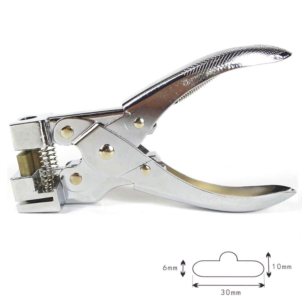 Kucaa Heavy Duty Steel Handheld Hanger Hole Punch Airplane Hole Punch Euro Slot Punch Butterfly Hole Punch T-hook Clamp Pliers for Paper PVC Card by Kucaa