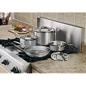 Cuisinart MCP-7N MultiClad Pro Stainless-Steel Cookware 7-Piece Cookware Set – Silver