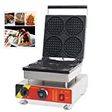 TechTongda 110V Commercial Non-stick Electric 4pcs Belgian Liege Waffle Maker Iron Machine