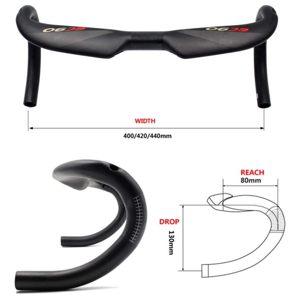 TT Bike Handlebars RXL SL Triathlon Handlebar 31.8400//420//440mm Bullhorn Handlebar