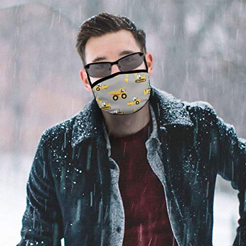 NiYoung Fashion Earloop Face Mask, Anti-Dust Mouth-Muffle with Adjustable Elastic Band - Windproof Construction Trucks Half Face Mouth Medical Mask