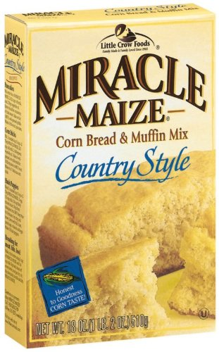 Miracle Maize Corn Bread and Muffin Mix Country Style, 18-Ounce Boxes (Pack of 12) by Miracle Maize