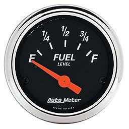 Auto Meter 1422 Designer Black Fuel Level Gauge
