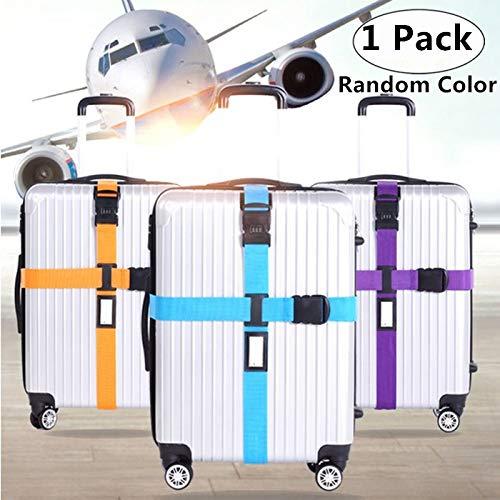 1 Pack Adjustable Travel Luggage Strap, Magnoloran Detachable Long Cross Travel Luggage Strap Packing Belts Suitcase Bag Security Straps Travel Accessories Bag Straps