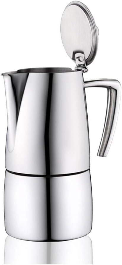 GYZ 304 de Acero Inoxidable Moca Cafetera Cafetera Italiana concentrada Cafetera portátil Máquina de café Manual de Acero Inoxidable Color -180ml / 260ml Caldera (Tamaño : 260ml): Amazon.es