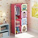 MAGINELS Portable Kid Organizers and Cute Baby Storage Organizer Clothes Wardrobe Cube Closet