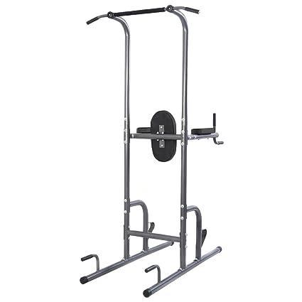 Amazon.com   Goplus Chin Up Tower Rack Pull Up Weight Stand Bar Leg ... 708525f2693c