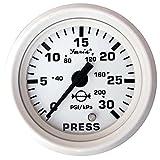 Faria Dress White 2'' Water Pressure Gauge Kit - 30 PSI