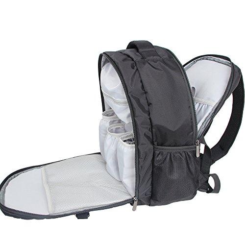 Damero FX00101 Bolso Cambiador / mochila, negro nueva versión negro