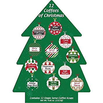 Coffee Christmas Tree.K Cup Coffee Christmas Gift 12 Single Serve Keurig Variety Sampler Assortment Winter Holidays