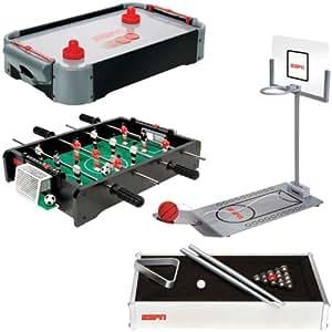 ESPN Tabletop Game Bundle (Basketball, Foosball, Pool and Air Hockey)