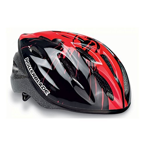 Rollerblade Junior Workout Helmet, Kids, Black and Red, Medium by Rollerblade