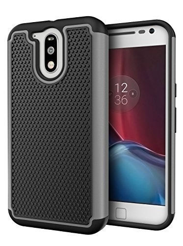 Moto G4 / G4 Plus Case, Cimo [Shockproof] Heavy Duty Shock Absorbing Protection Cover for Motorola Moto G 4th Generation/Moto G Plus (2016) - Gray