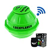 Lucky Wifi Fish Finder 50m(130ft) Sonar Sensor Broadcast to iPhone iPad IOS Android Smartphone Tablet with Neoprene Bag for Sea Lake Fishing Ice Fishing, Kayak, Boat and Shore Fishing