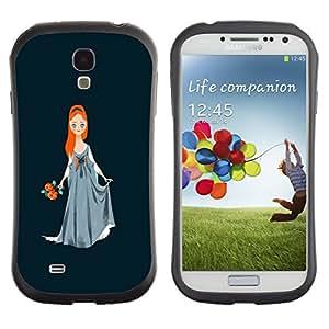 Suave TPU GEL Carcasa Funda Silicona Blando Estuche Caso de protección (para) Samsung Galaxy S4 I9500 / CECELL Phone case / / Princess Red Hair Girl Ball Gown Art Drawing /