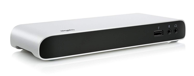 Elgato Thunderbolt 3 Dock - With 50 cm Thunderbolt cable, 40Gb/s, dual 4K support, 2x Thunderbolt 3 (USB-C), 3x USB 3.0, audio input and output, Gigabit Ethernet (Renewed)