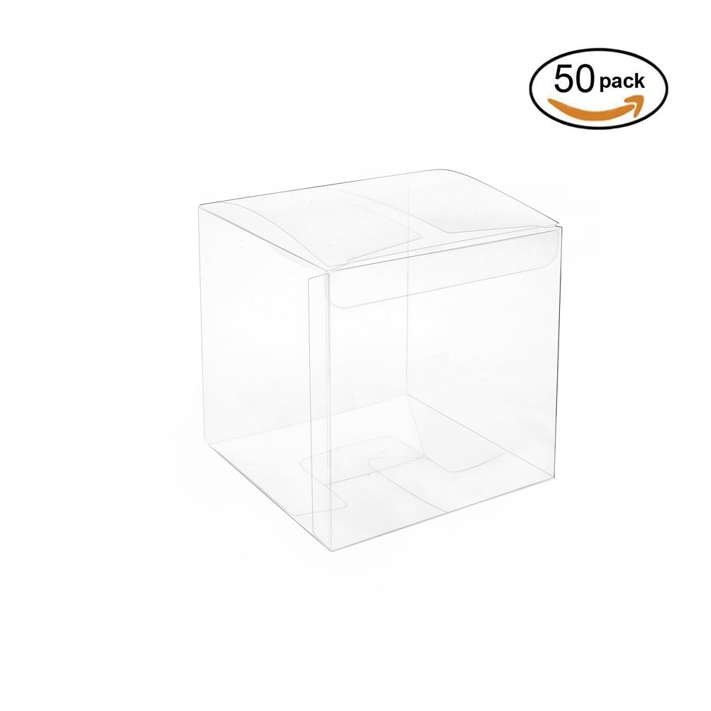 Clear Plastic Box 2x2x2 inch for Cupcake Transparent Box 50pc