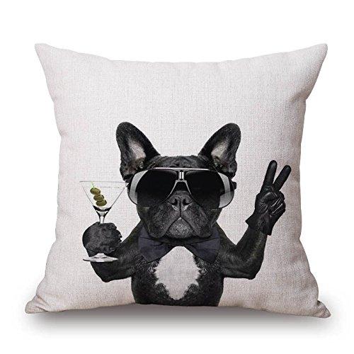 MAYUAN520 Cojines Funda De Cojín Bulldog Perro Mascota ...