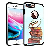 iPhone 8 PLUS / 7 PLUS Case, IMAGITOUCH 2-Piece Style Armor Case with Flexible Shock Absorption Case & Harry Potter Hedwig Owl Design Cover Hybrid for iPhone 8 PLUS/7 PLUS, iPhone 6 PLUS/6S PLUS