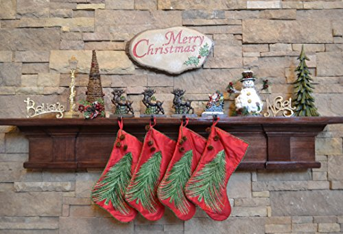 Lulu Decor, Cast Iron Santa Claus & 3 Reindeer Stocking Holders, Solid, Beautiful, Available in Holiday Colors, Measures 7.75''x5.5'', Set of 4, Perfect for holiday gifts/Christmas gifts(4 Hooks) by LuLu (Image #2)