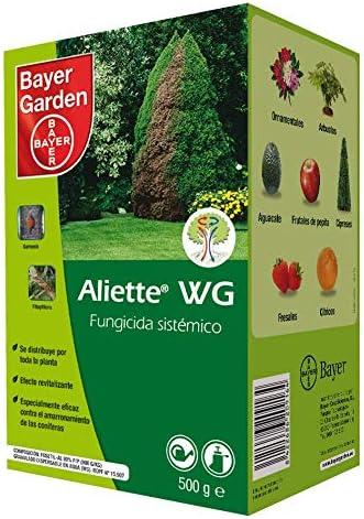 PROTECT GARDEN Fungicida sistémico Aliette WG para cesped y coniferas, 500gr, Verde Agua, 500 Gramos