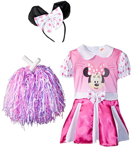 Minnie Mouse Costume Toddler 2t (Minnie Mouse Cheerleader Costume - Toddler Small(2T), Pink)
