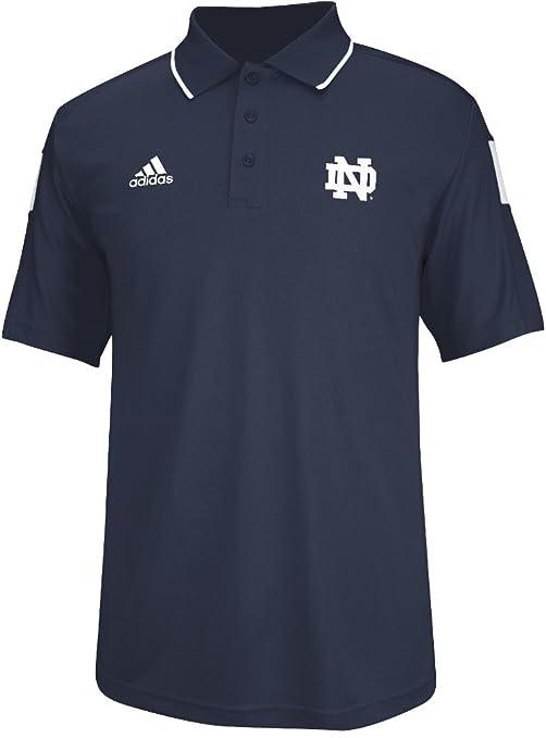 f31c7dab9 Notre Dame Fighting Irish Adidas 2014 Sideline Climalite Polo Shirt - Navy