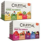 Celestial Seasonings Herbal Tea Flavor Bundle: 2 Boxes; Herbal Tea Sampler, Fruit Tea Sampler