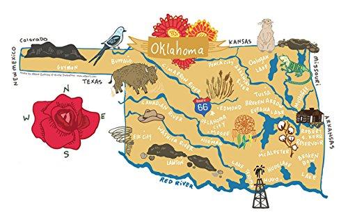 (Allport Editions Hello : Oklahoma Kitchen Towel - 100% Cotton Kitchen Dish Towel)