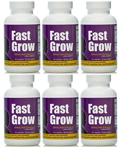 Grandir vite cheveux vitamines cheveux ethniques croissance Enhancer 6 mois d'approvisionnement pour la croissance rapide des cheveux et la croissance des cheveux sains