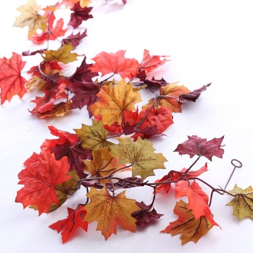 Factory direct craft autumn mix artificial maple leaf for Autumn leaf decoration