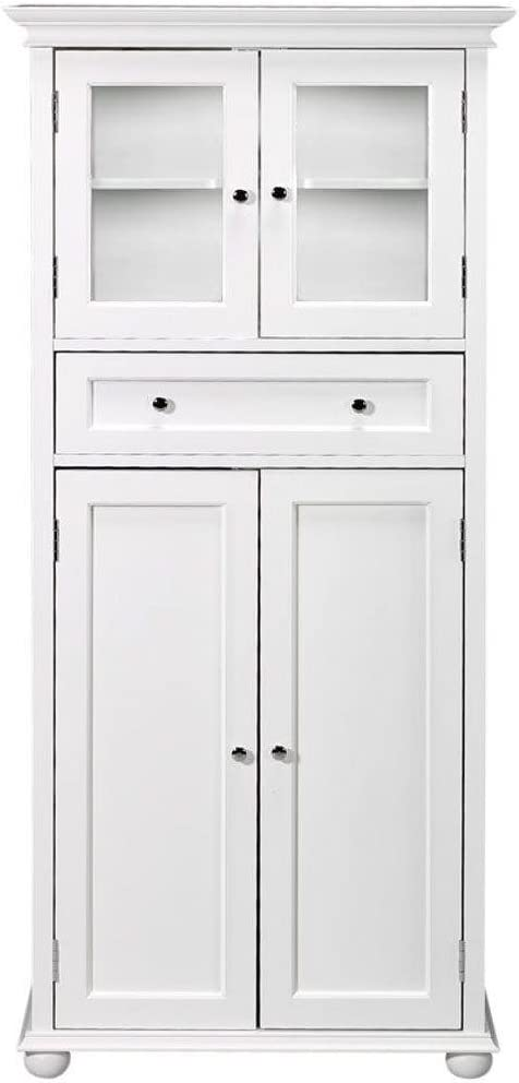 Home Decorators Collection Hampton Bay 1 Drawer Tall Bath Cabinet, 4-Door, White