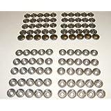 Stainless Steel Snap Fastener's, 50 Piece, Cap & Socket Only, Marine Grade by Northwest Tarp & Canvas