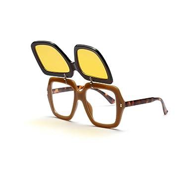 MINGMOU Clip En Las Gafas De Sol Plegables Hombres Cuadrados ...