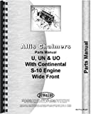 Allis Chalmers U UN UO Tractor with Continental Engine Parts Manual