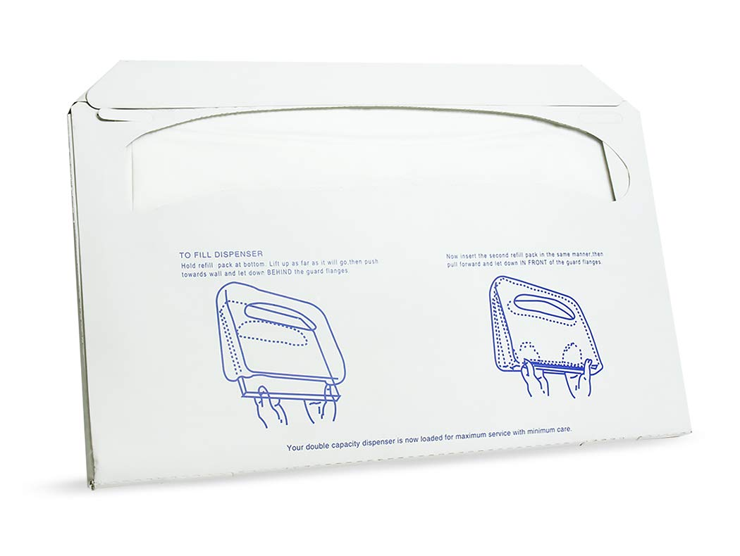 Paper Toilet Seat Covers - Disposable - Half-Fold Toilet Seat Cover Dispensers - White - 4 Pack of 250-14''L x0.1''W x 16''H by Juvale (Image #7)