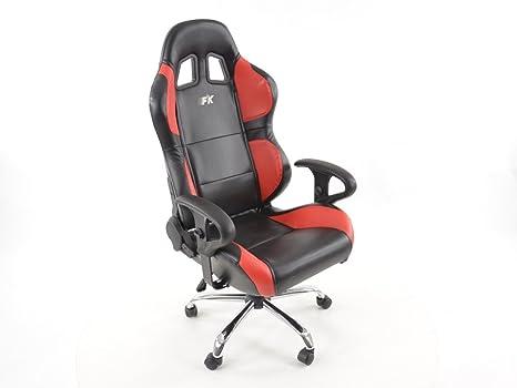 Sedie Da Ufficio In Pelle : Fk automotive sedia da ufficio sport phoenix con schienale pelle