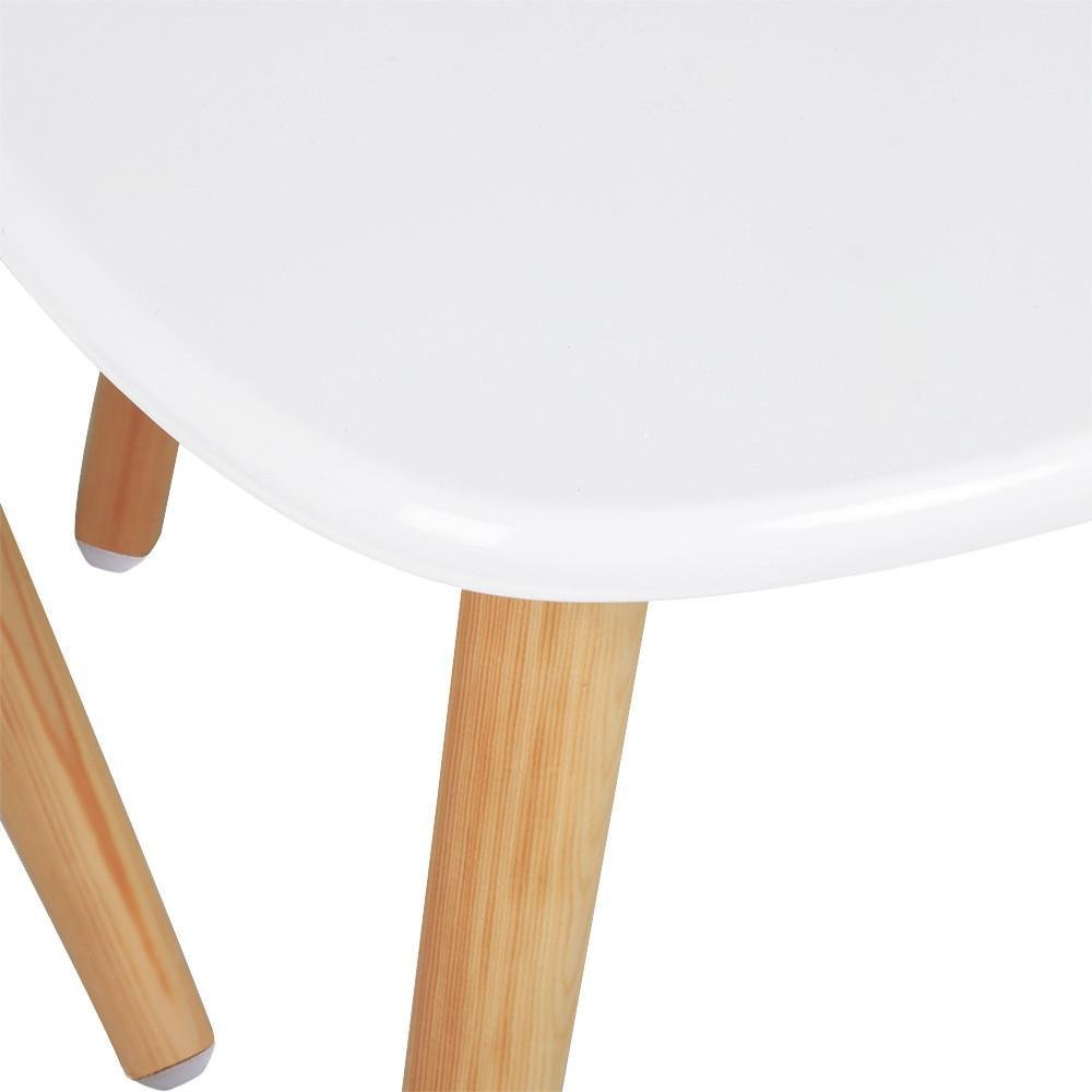 Popamazing Set Of 2 Modern Nest Tables White Gloss Wood Coffee Table