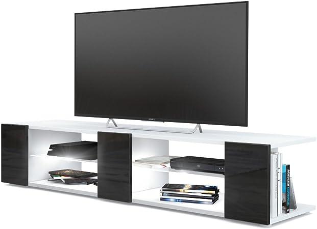 Mesa para TV Lowboard Movie V2, Cuerpo en Blanco Mate/Frentes en ...