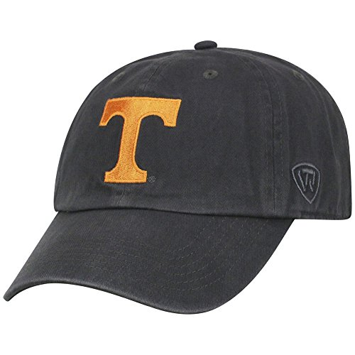 Top of the World NCAA Tennessee Volunteers Men's Adjustable Hat Relaxed Fit Charcoal Icon, -
