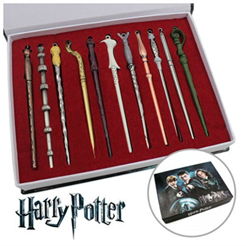 11PCS Harry Hermione Dumbledore Sirius Voldemort Fleur Magic Wand In Box