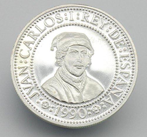 Moneda de Plata Conmemorando el 500 Aniversario del Descubrimiento ...