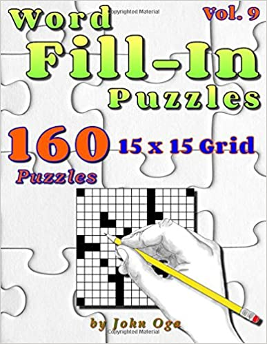 Book Word Fill-In Puzzles: Fill In Puzzle Book, 160 Puzzles: Vol. 9