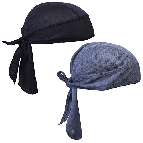 COSMOS Cooling Skull Cap Quick Dry Head Wrap for Outdoor Sports, Pack of 2 (Skull Cap Wrap)