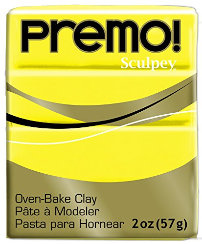 (Sculpey Polyform Premo, Zinc Yellow Hue,2oz)