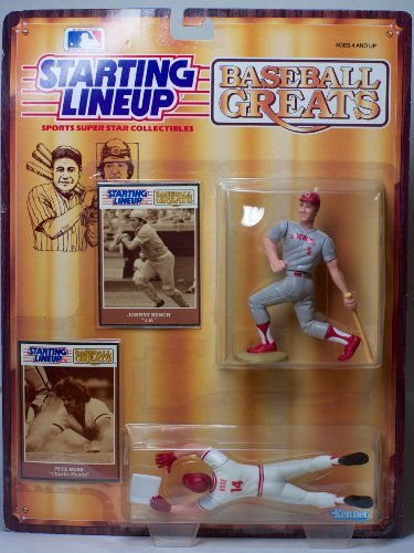 Baseball Greats Johnny Bench and Pete Rose Starting - Bench Johnny 1989