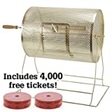 Medium Brass Raffle Drum w/ 4,000 Free Tickets by Midway Monsters offers