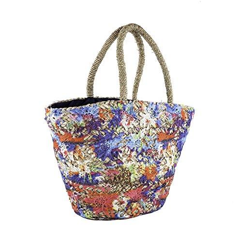 Borsa a mano, Annabella Multicolore, in paglia